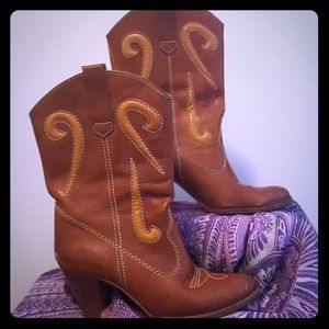🤠AUTHENTIC BRAZILIAN  1970s COWBOY BOOTS